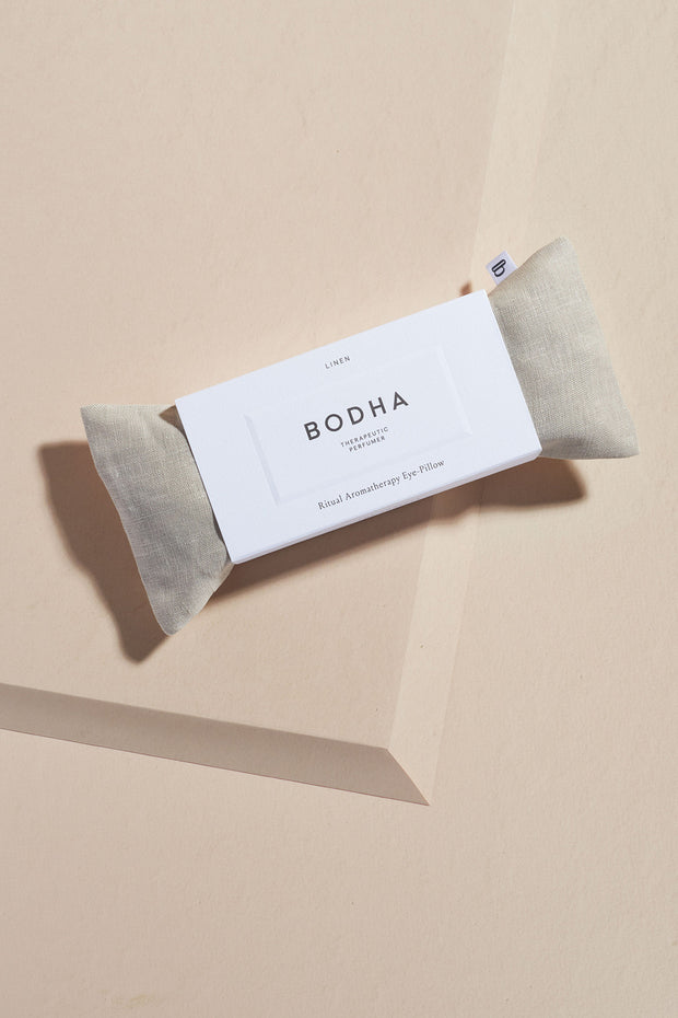 Bodha Aromatherapy Linen Eye Pillow in Natural Linen