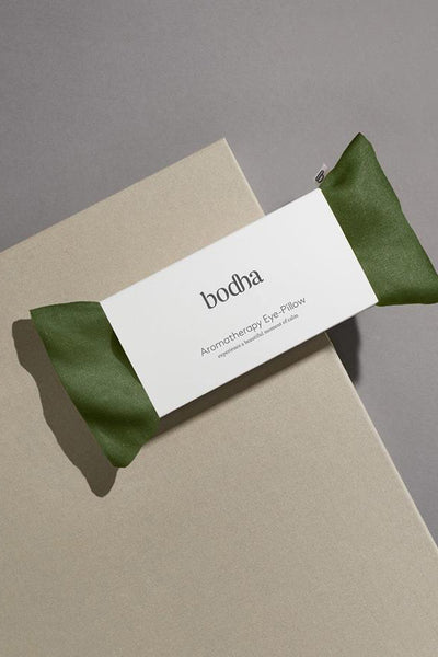 Bodha Aromatherapy Linen Eye-Pillow in Emerald