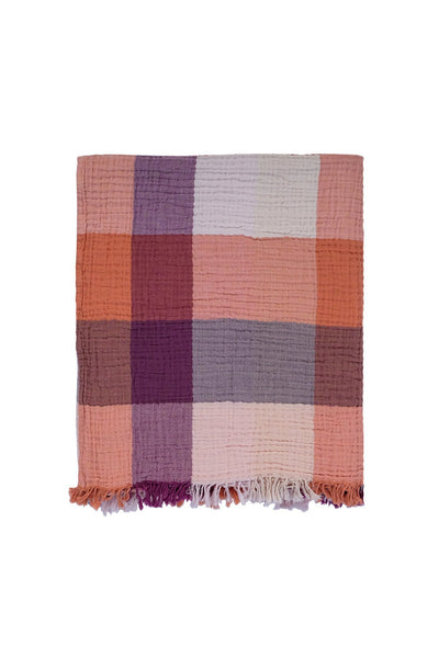 Cocoon Plaid Throw in Earth
