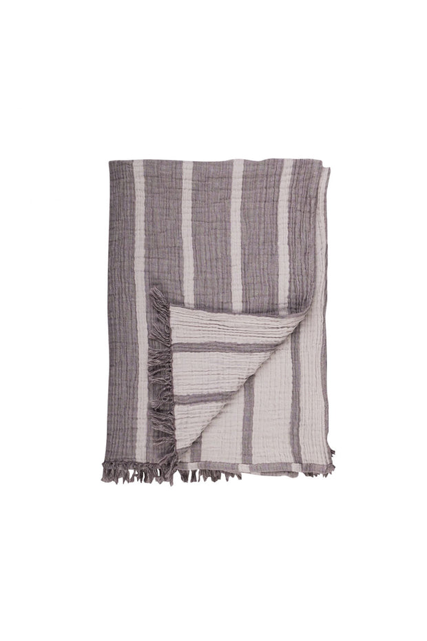 Cocoon Stripe Throw in Khaki