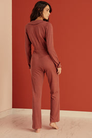 Ella Wool Blend Pleated Jumpsuit