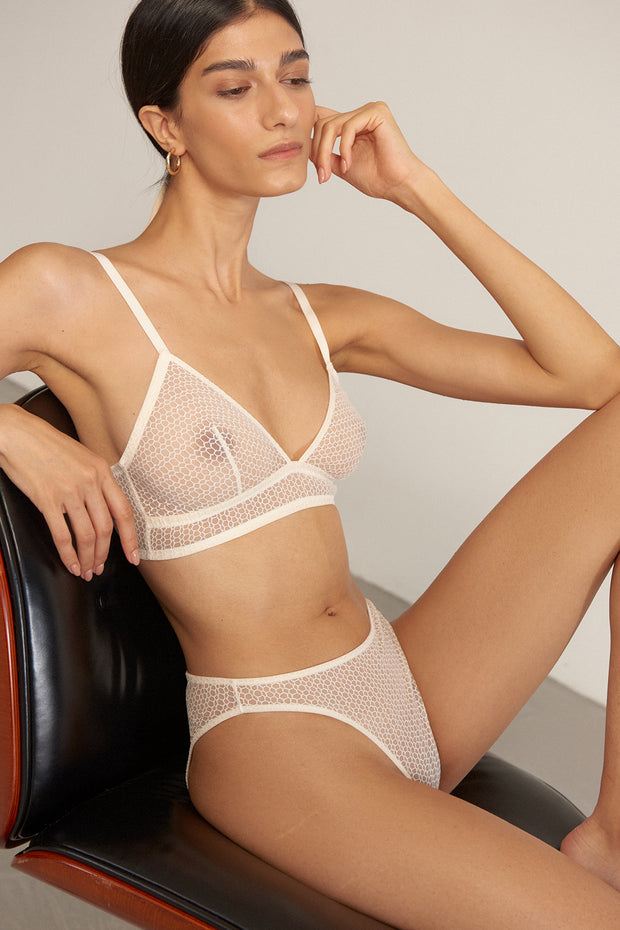 Honeycomb Triangle Soft Bra