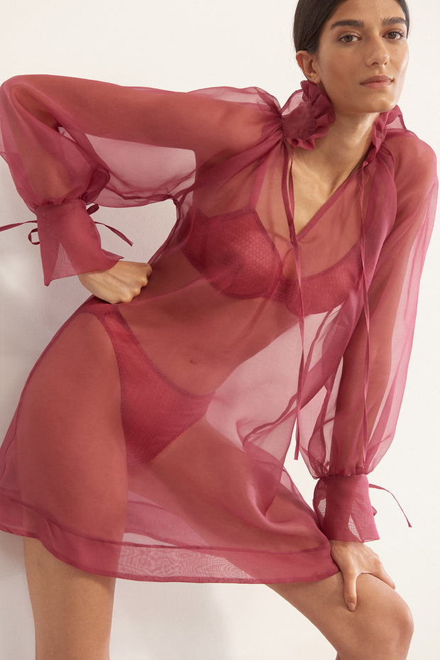 Honeycomb Organza Silk Cover Up