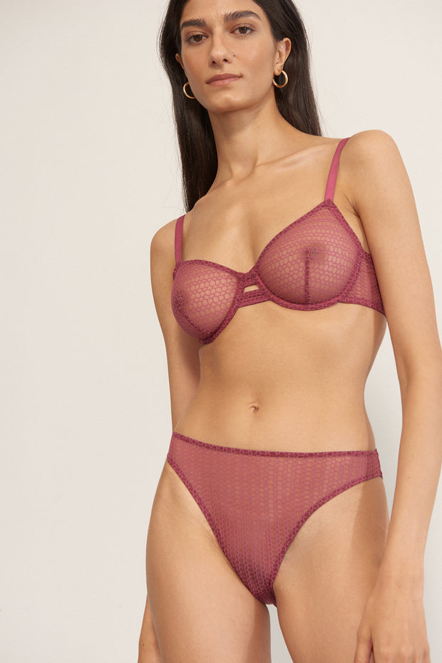 Honeycomb Underwire Bra