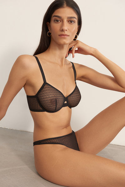 Honeycomb Underwired Bra