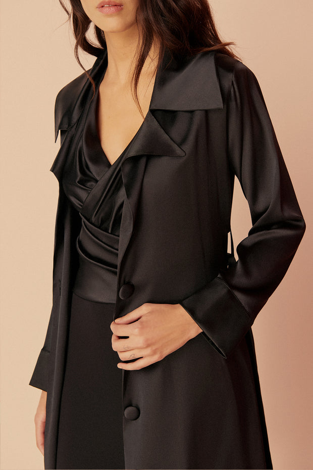 Giselle Silk Trench Robe