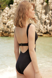 Ziggy Plunge Cut Out One Piece Suit