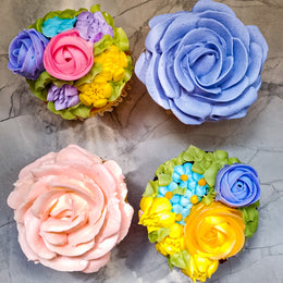 Mother's Day Rose & Flower Cupcakes Gift Box