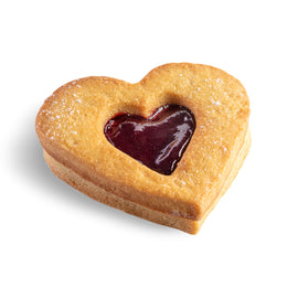 Raspberry Linzer Heart