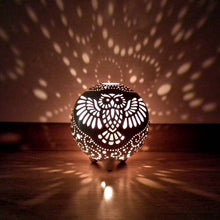 "Load image into Gallery viewer, ""Hedwig Owl"" Candle Holder -Candle Lantern - CozyHomeIdeas"