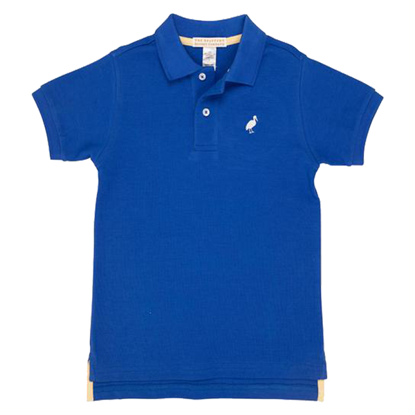 Prim & Proper Polo Rockefeller Royal Blue with Worth Avenue White Stork
