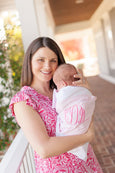 Bow Swaddle ® Palm Beach Pink