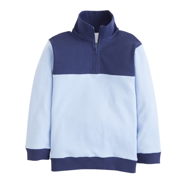 hastings half-zip boy light blue