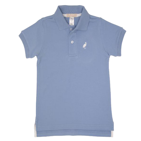Prim & Proper Polo Park City Periwinkle with Worth Avenue White Stork