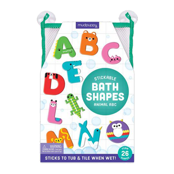 animal abc foam bath shapes