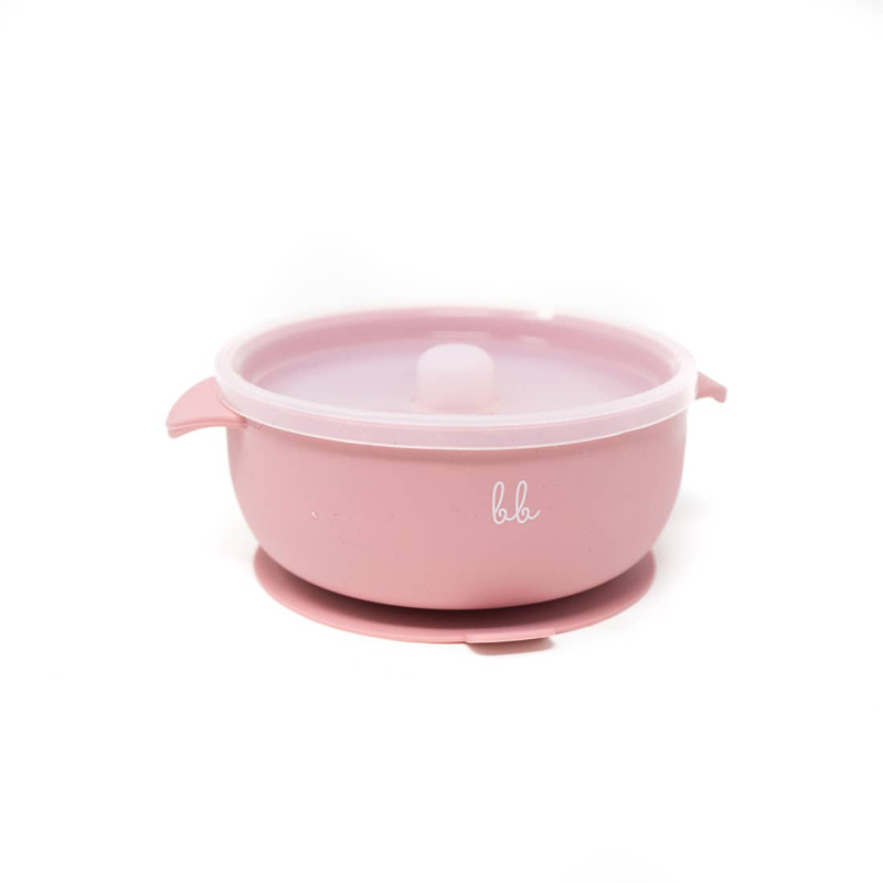 dusty rose suction bowl