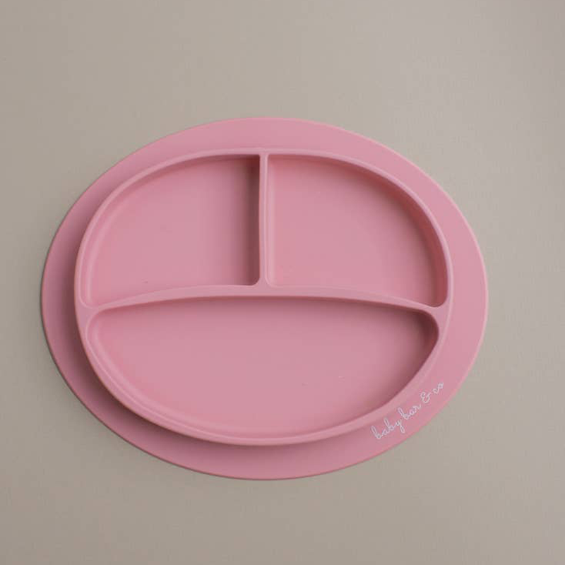 dusty rose sili plate - suction