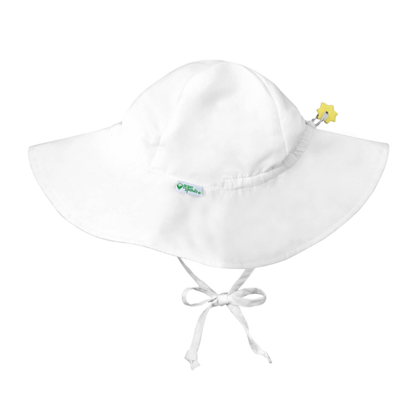 white brim sun protection hat
