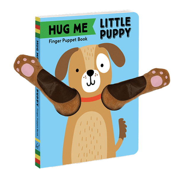 hug me little puppy: finger puppet book