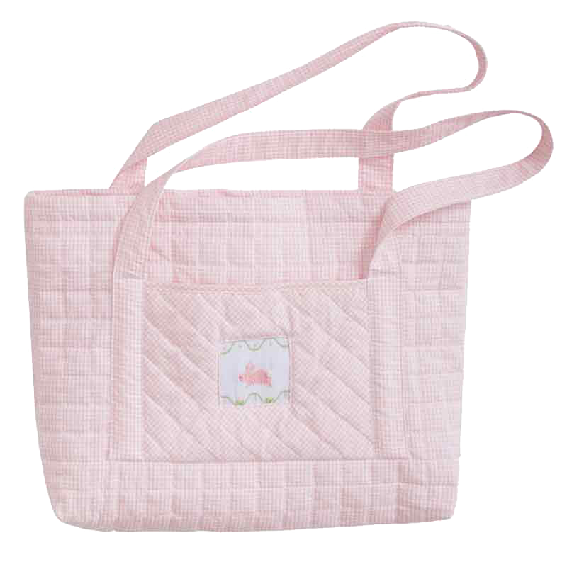 quilted bunny tote