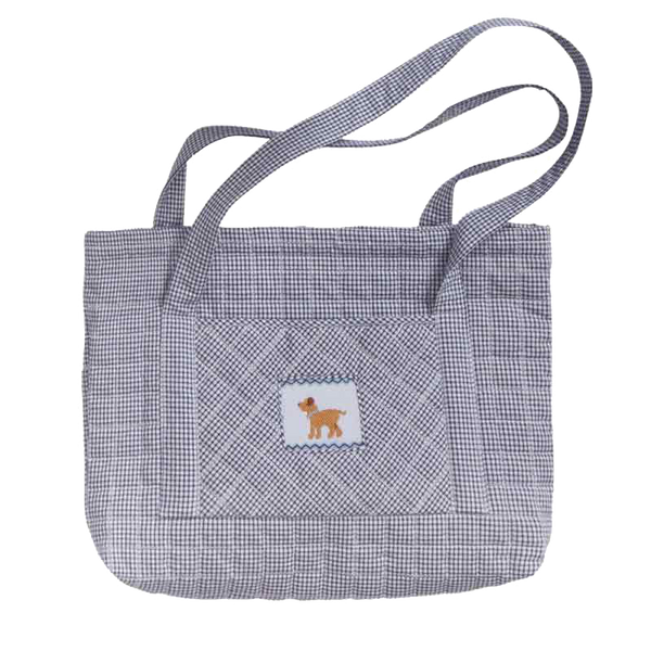 quilted dog tote