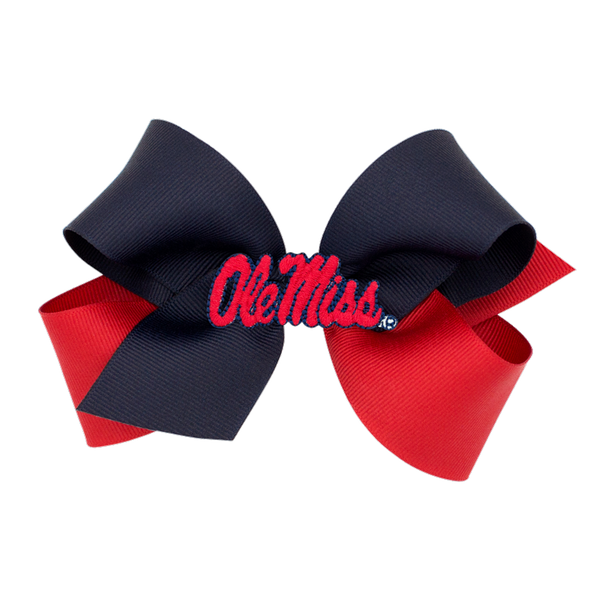 two tone ole miss bow