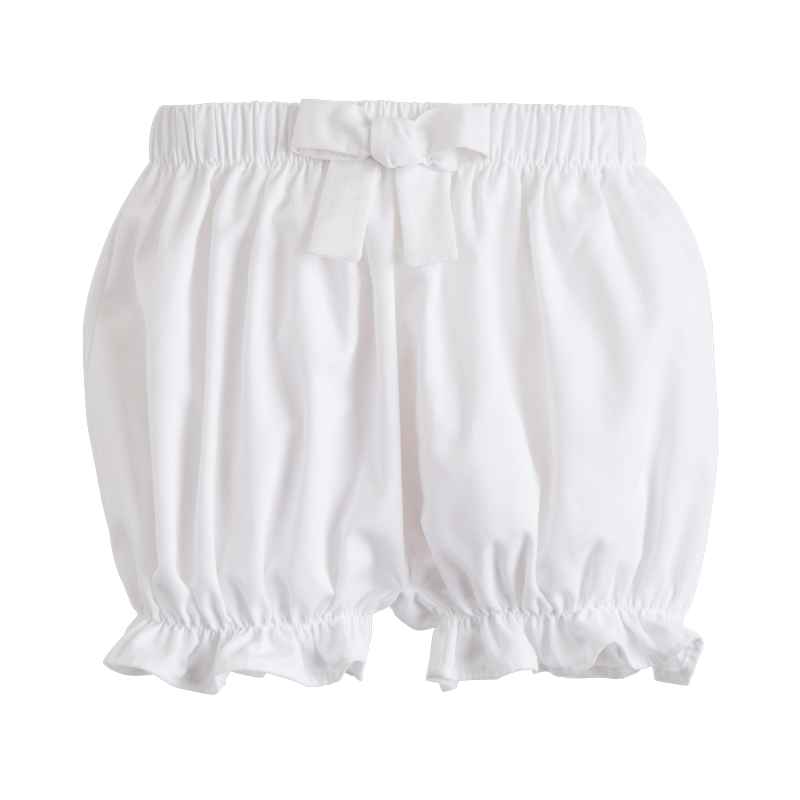 white bow bloomers