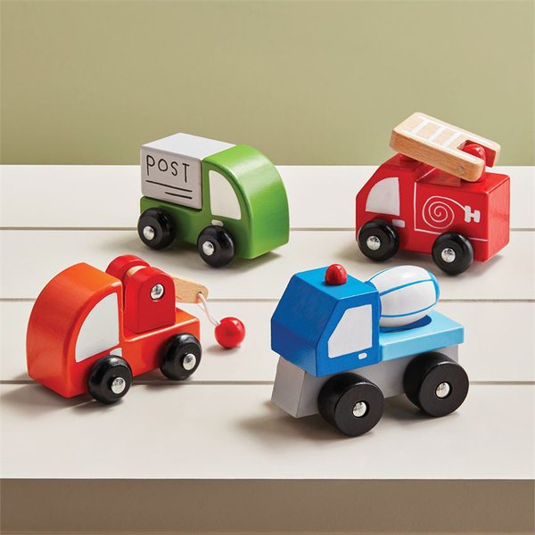 wooden transportation cars
