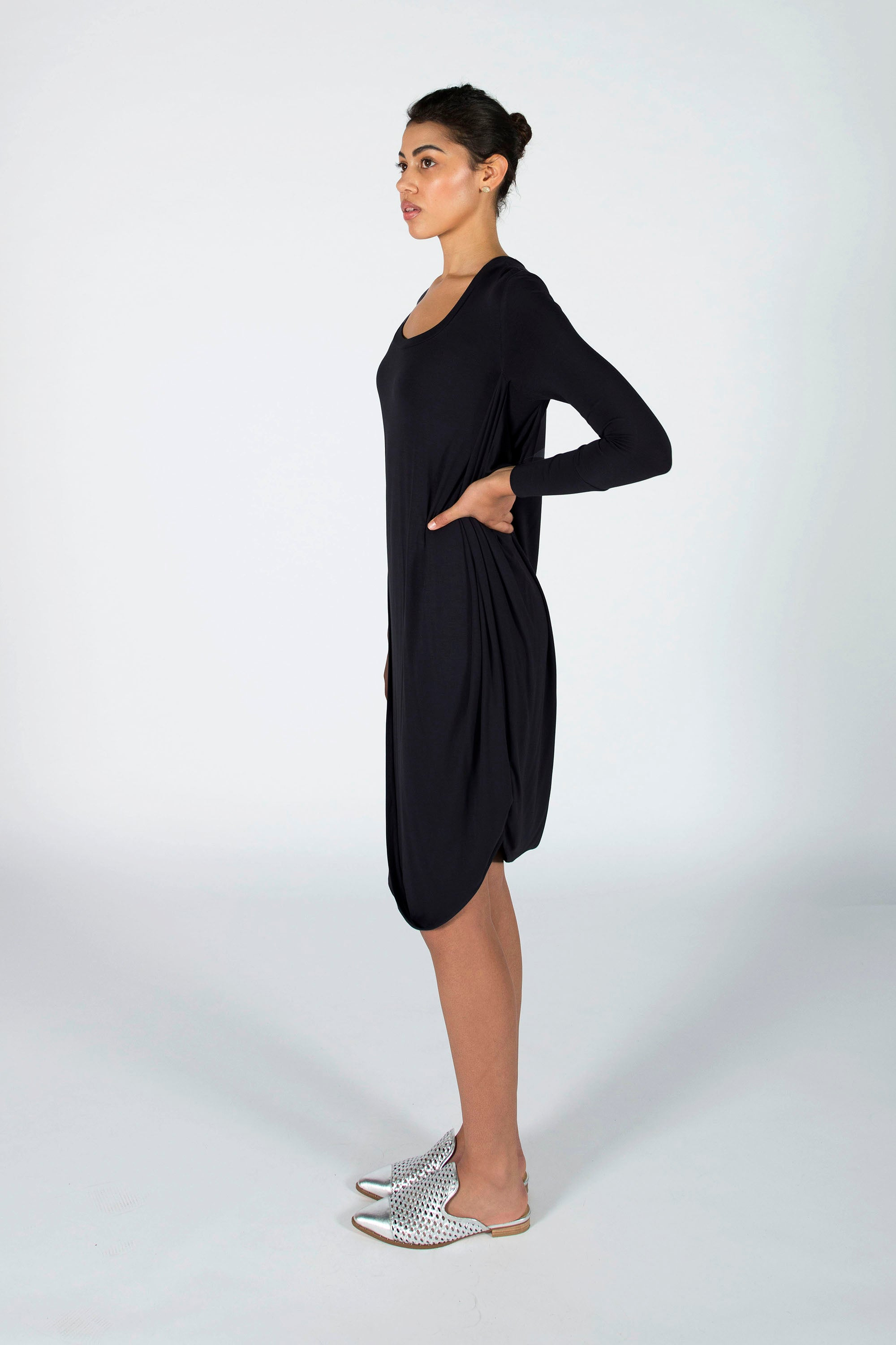 : the black CHRISTINE dress