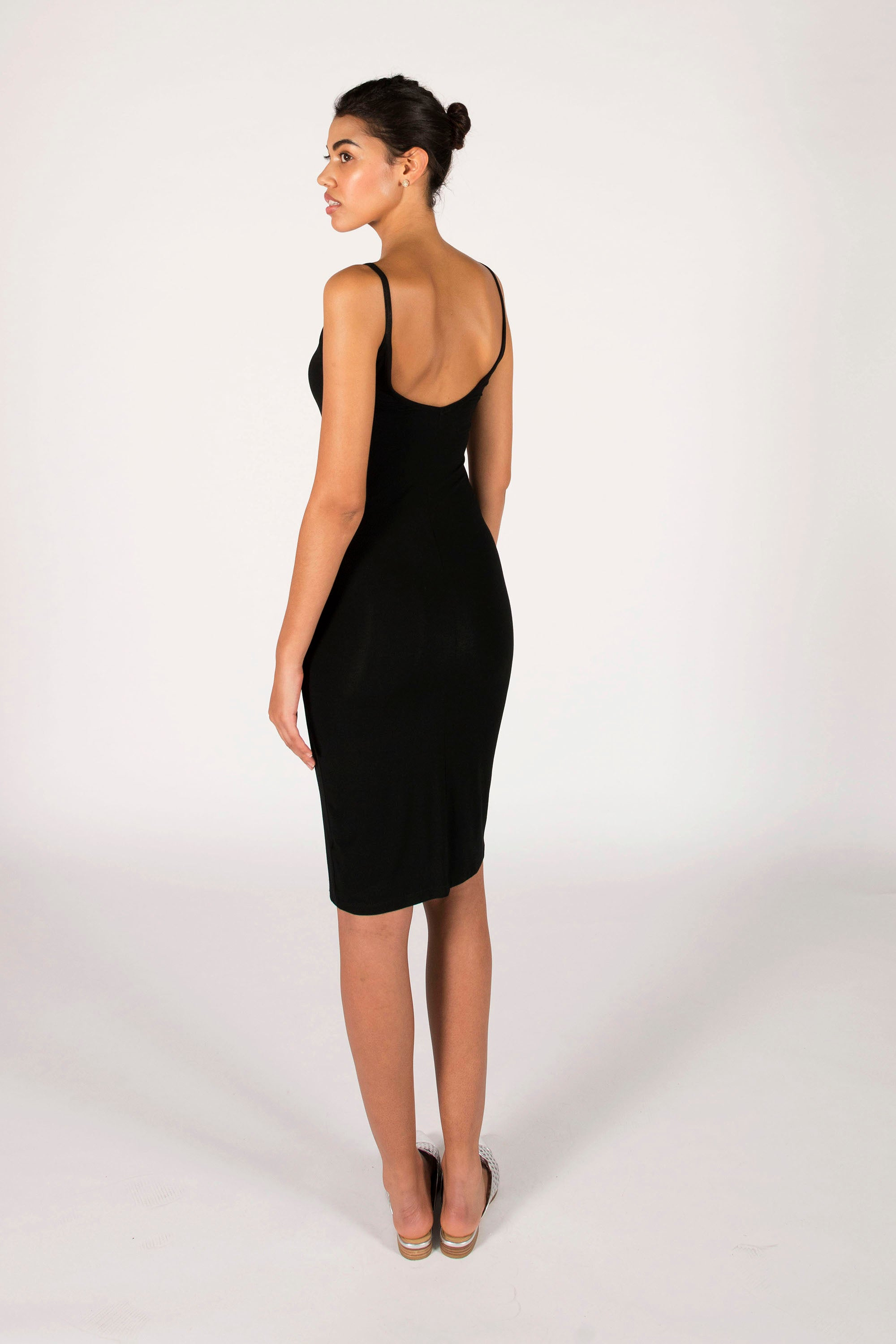 : the black LAURA midi dress