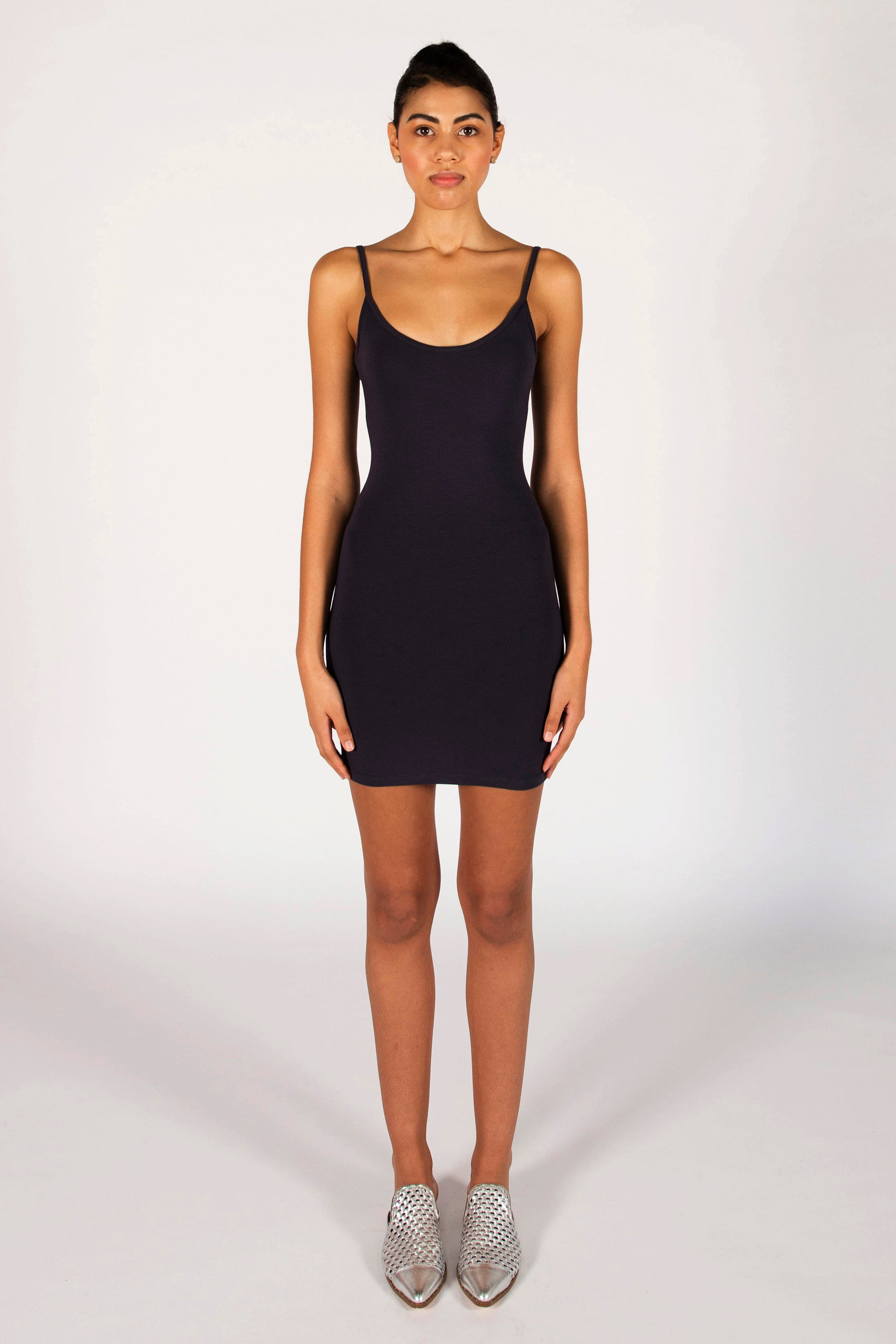 : the black LAURA mini dress