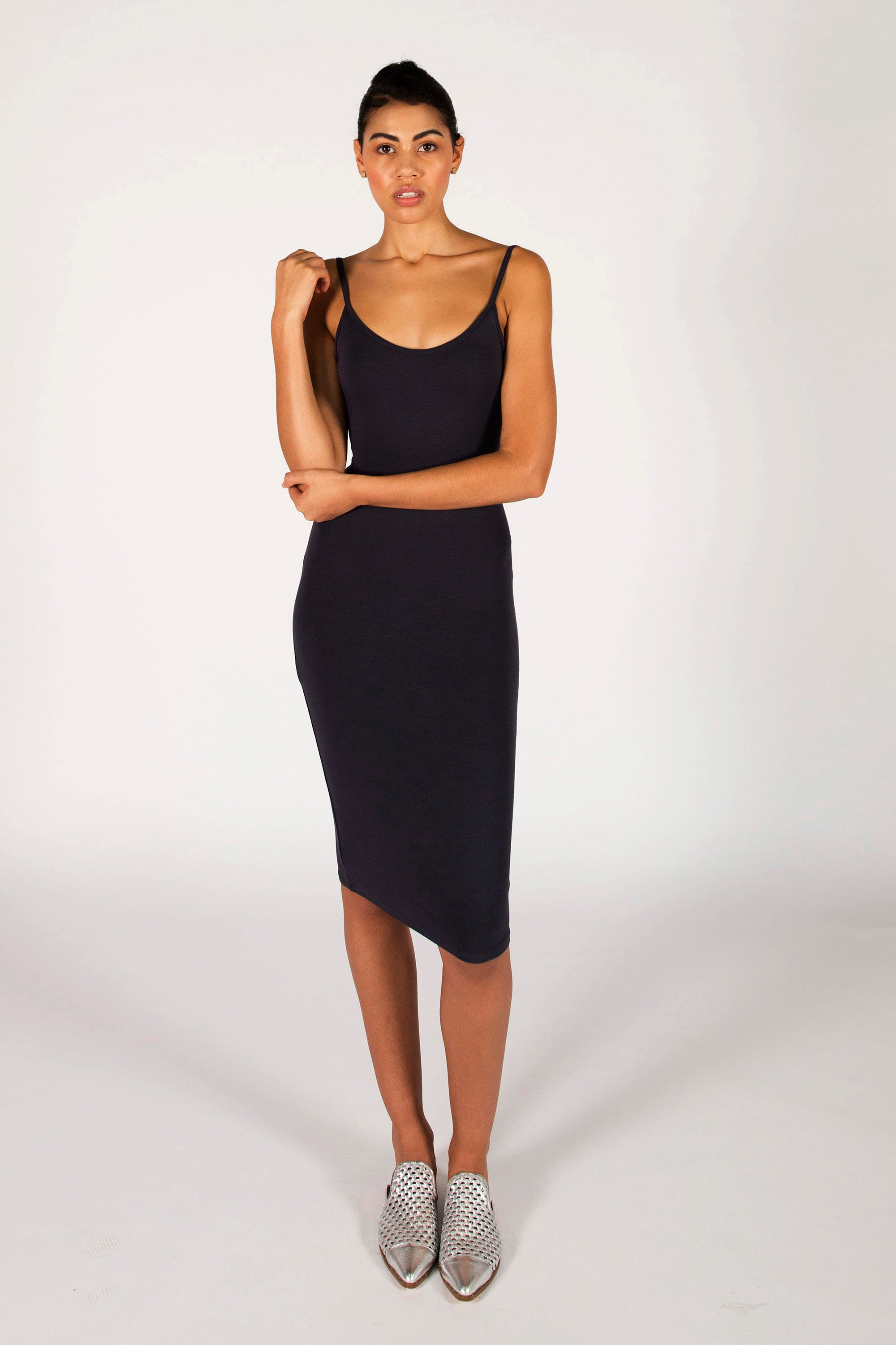 : the charcoal LAURA midi dress