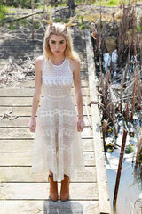VALENTINA DRESS in laser cut lace