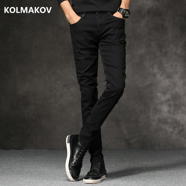 2018 Spring New men Jeans Black Classic Fashion Designer Denim Skinny Jeans men's casual High Quality Slim Fit Trousers