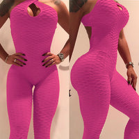 White Color Hot Sale New Folding Push Up Fitness Rompers Womens Jumpsuit Backless Halter Across Playsuit Sexy Bodysuit
