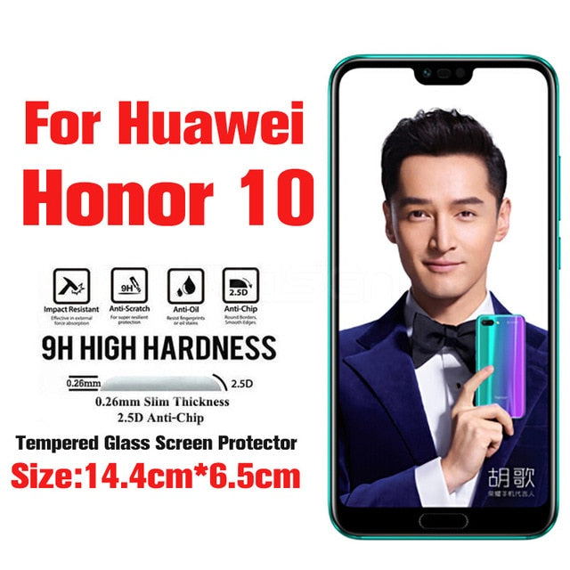 Explosion-proof Screen Protector For Huawei P20 10 Lite Pro P8 P9 Lite 2017 Nova 3 3e Honor 8 9 Lite 10 V10 Tempered Glass Film