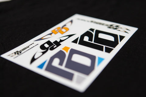 PD Block logo sticker sheet