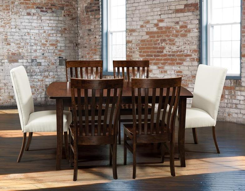 Broadway Dining Table At Weaver's Furniture of Sugarcreek. Amish Made Tables.