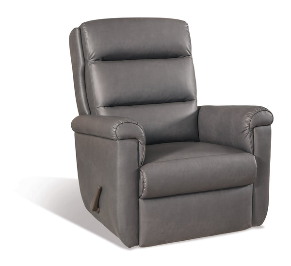 Gray Faux Leather Recliner