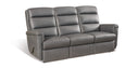 Gray Faux Leather Sofa