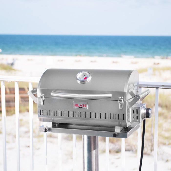 Blaze Professional Stainless Steel 10-Inch Marine Grade Portable Grill Pedestal