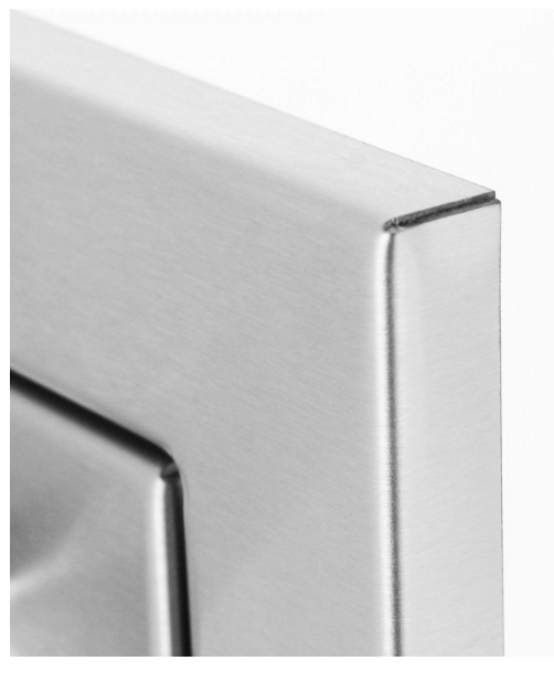 EPIC 350H Series 24-Inch Stainless Steel Left-Hinged Single Access Horizontal Door