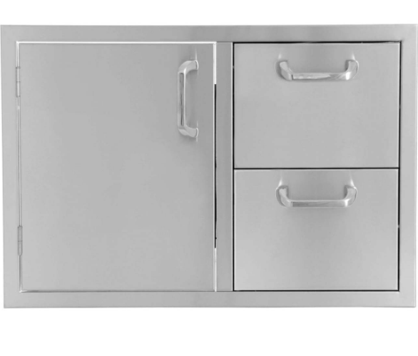 EPIC 260 Series 36-Inch Stainless Steel Single Door and Double Drawer Combo