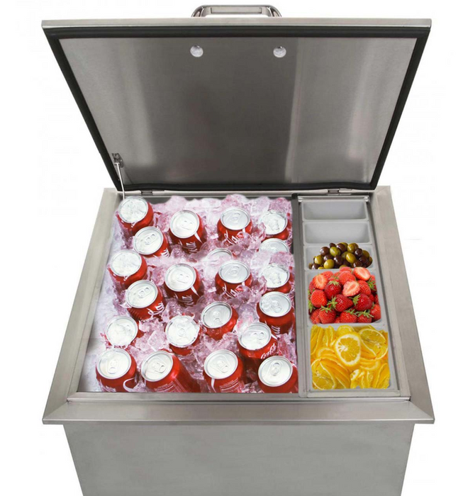 EPIC 400 Series 18-Inch Stainless Steel Drop-In Ice Bin Cooler
