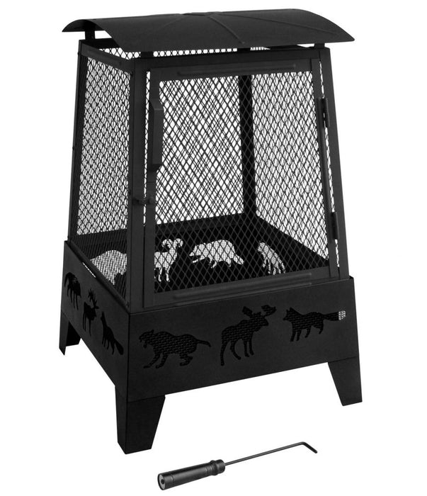 Landmann Haywood with Wildlife Cutouts Fire Pit