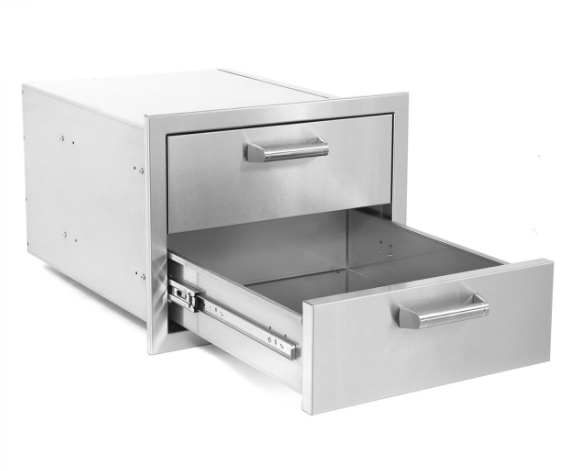 EPIC 350H Series 17-Inch Stainless Steel Double Access Drawer