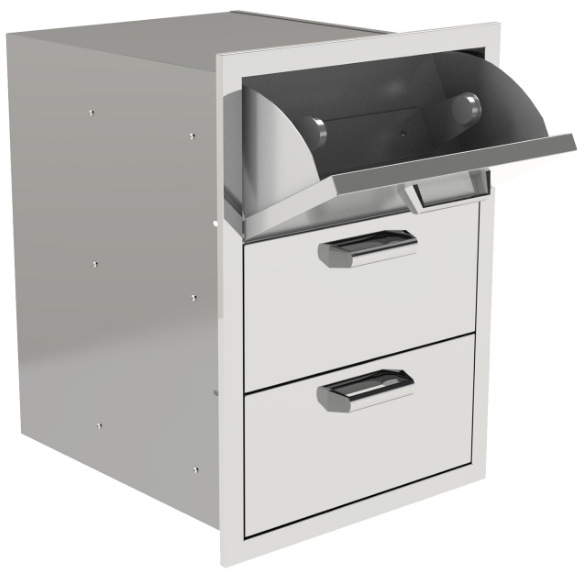 EPIC 350H Series 20-Inch Stainless Steel Triple Access Drawer with Paper Towel Dispenser