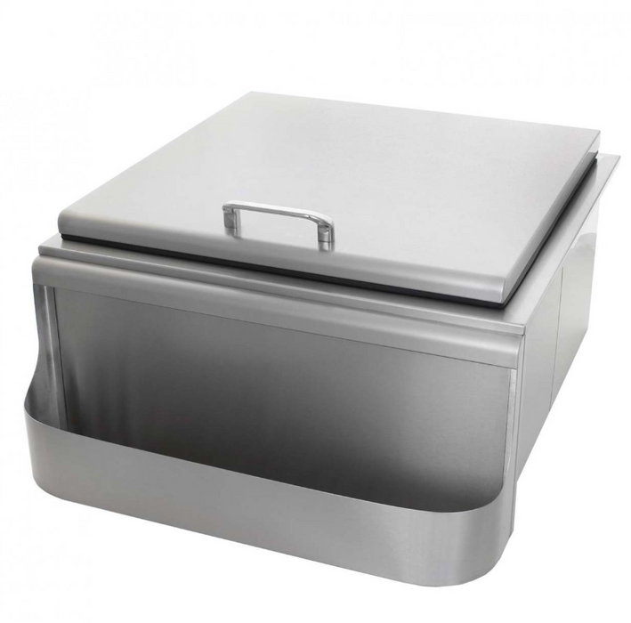 EPIC 400 Series 24-Inch Stainless Steel Slide-In Ice Bin Cooler with Speed Rail