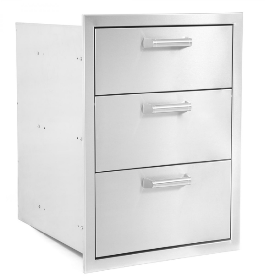 EPIC 350H Series 17-Inch Stainless Steel Triple Access Drawer