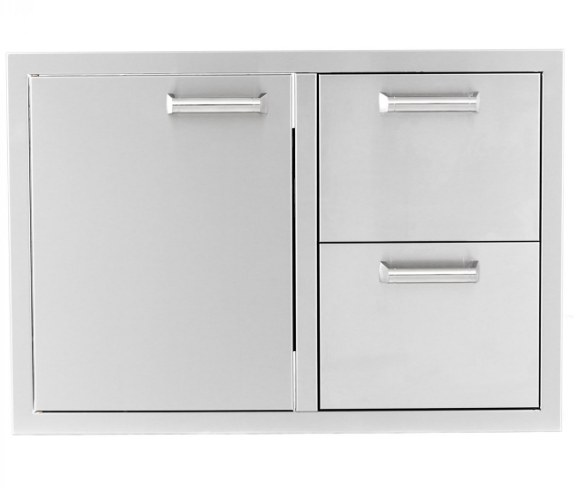 EPIC 350H Series 30-Inch Stainless Steel Single Door and Double Drawer Combo